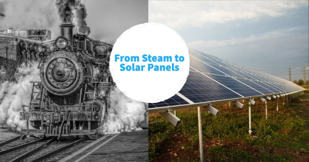 From steam to Solar panels